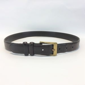 COACH BELT Sz 32 Brown Thick Leather